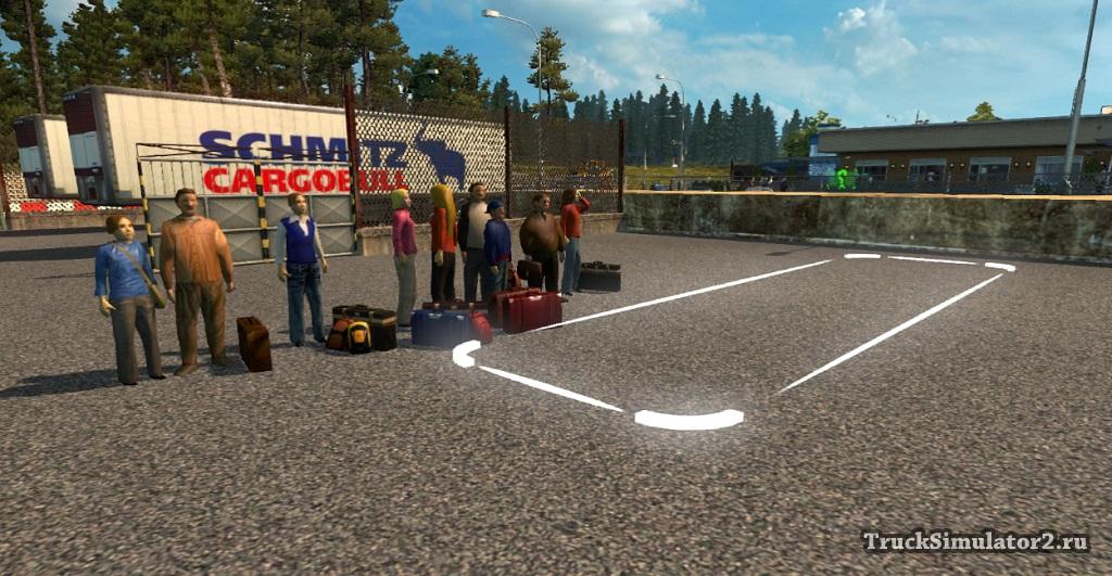 скачать мод на пассажиров для Euro Truck Simulator 2 - фото 10