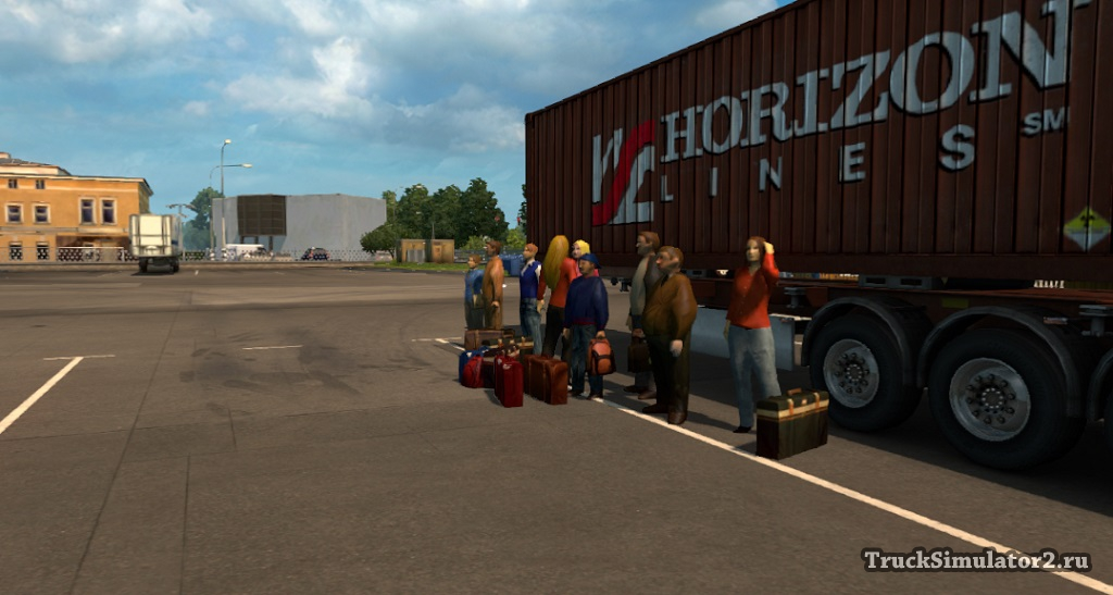 скачать мод на пассажиров для Euro Truck Simulator 2 - фото 3