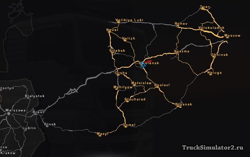 Euro truck simulator 2 скачать мод русская карта rusmap v1. 5 (1. 18.