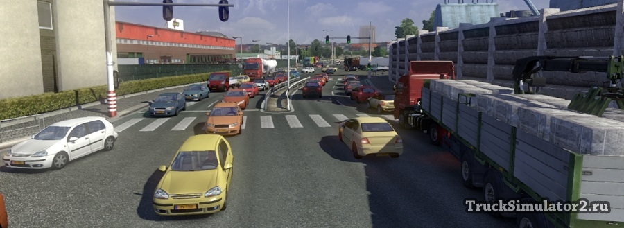 скачать мод на пробки для Euro Truck Simulator 2 - фото 4