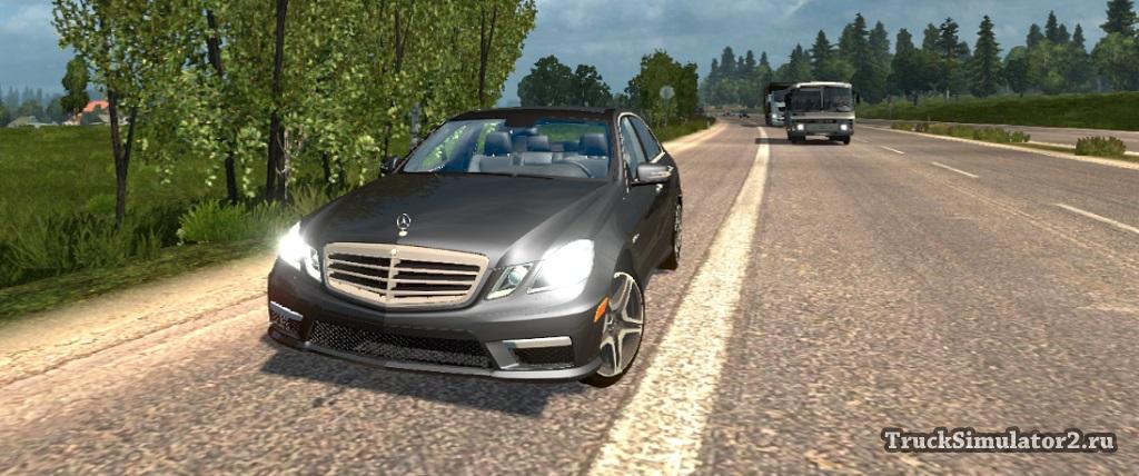Mercedes e63 amg авто для euro truck simulator 2.