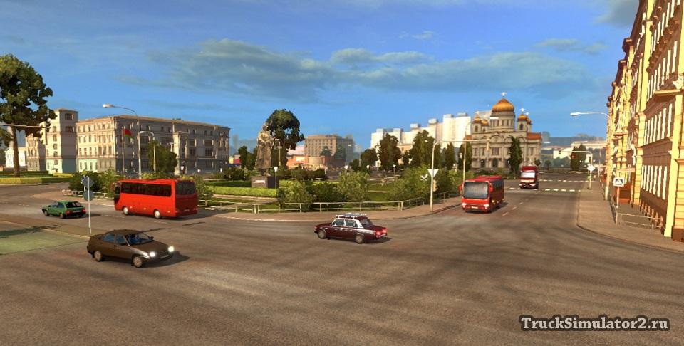 РУССКАЯ КАРТА 1.5 для Euro Truck Simulator 2 - Скриншот 1