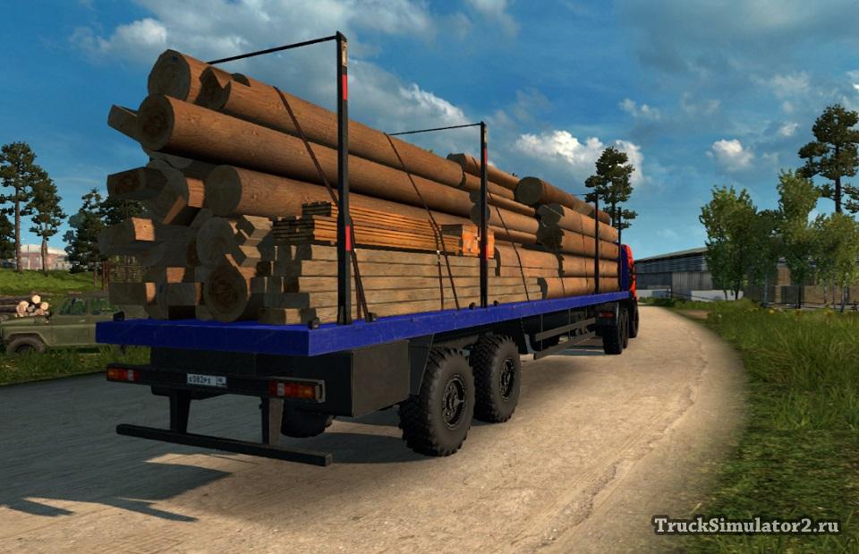 Скачать Мод Внедорожные Прицепы Для Euro Truck Simulator 2 - фото 6