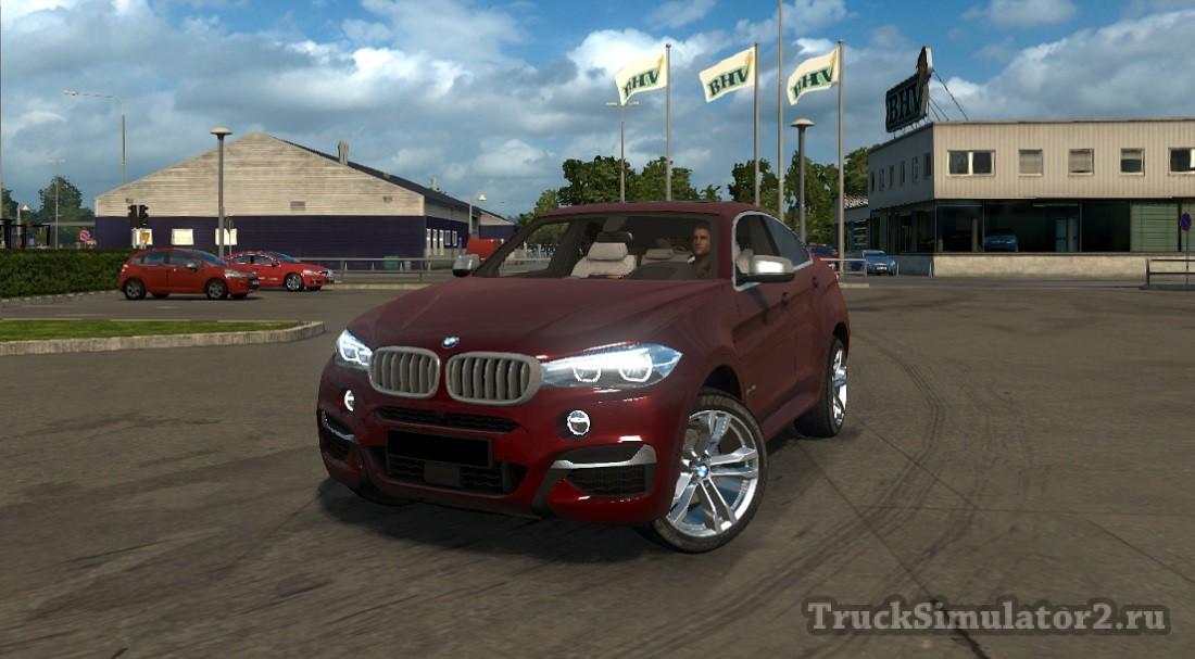 Bmw X6 M мод для Euro Truck Simulator 2 122 131