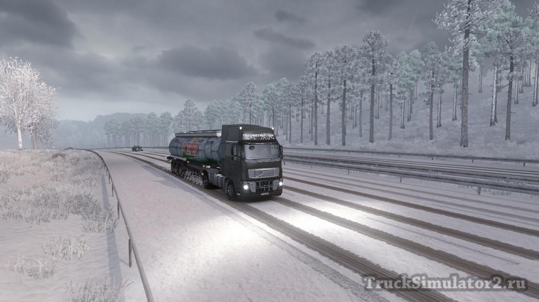 Скачать мод на евро трек симулятор 2 на зиму