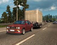 BMW E30 с прицепом
