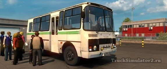 ПАЗ-3205 мод пазика в ETS2