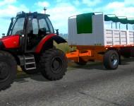 Трактор с прицепом в ETS 2