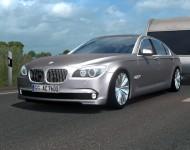 BMW 760Li с прицепом