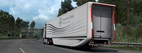 Аэродинамический полуприцеп Mercedes-Benz